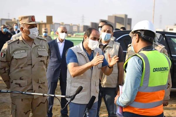 السيسي يتفقد مدينة مصر الدولية للألعاب الأولمبية