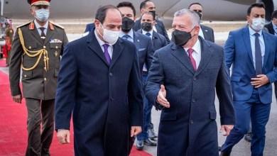 ملك الأردن وولي عهده يستقبلان الرئيس السيسي