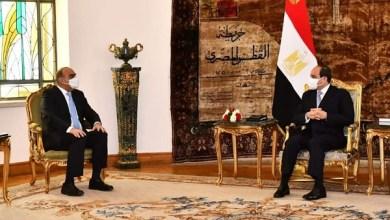 صورة رئيس وزراء الأردن مع الرئيس السيسي