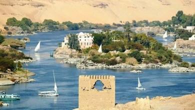 بحيرة ناصر نهر النيل اسوان