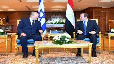 السيسي ورئيس وزراء الاحتلال الإسرائيلي