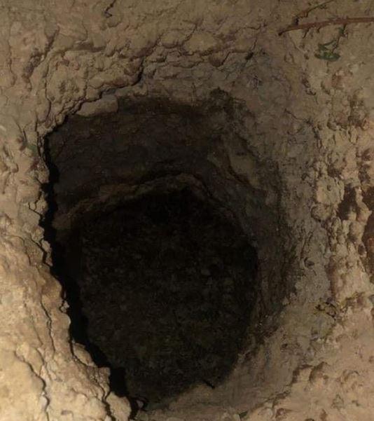فتحت النفق حفرة