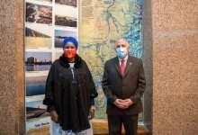 "Photo of ""عبد العاطى"" يستقبل ""أروب"" وزيرة الثقافة والمتاحف والتراث بدولة جنوب السودان"