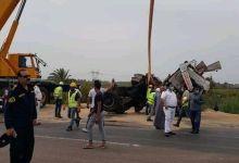Photo of حادث مروع بجوار  الكوبر العلوي بمدخل مصيف بلطيم