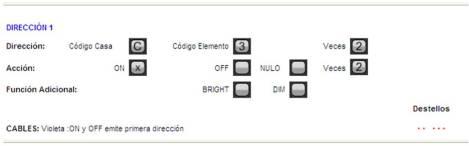 Programación SAIX12 como simple pulsador. El segundo pulsador servirá para activar un ambiente. C4ON.