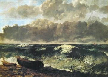 Gustave Courbet, La mer orageuse dit aussi La vague, 1870, Huile sur toile, 117 x 160,5 cm, © RMN-Grand Palais / Hervé Lewandowski