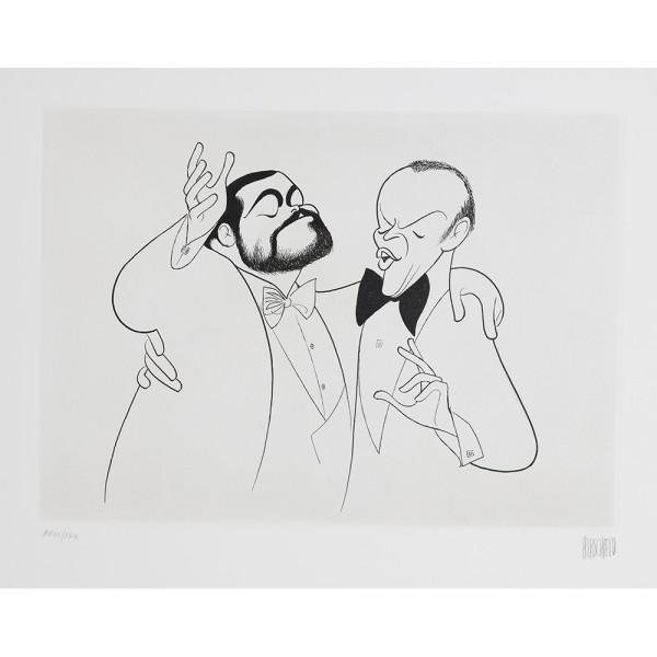 Luciano Pavarotti and Frank Sinatra