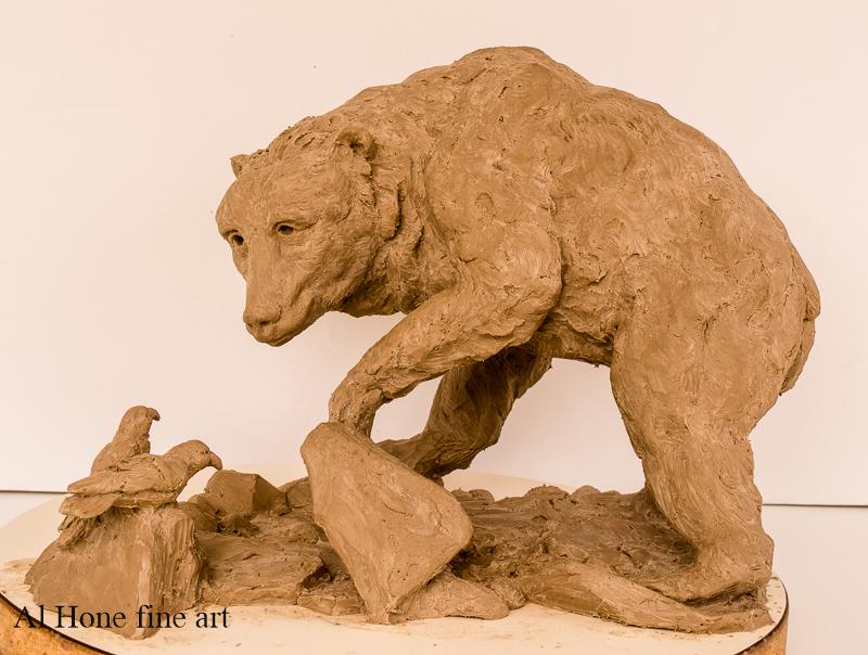 Al Hone Sculpture. Bear