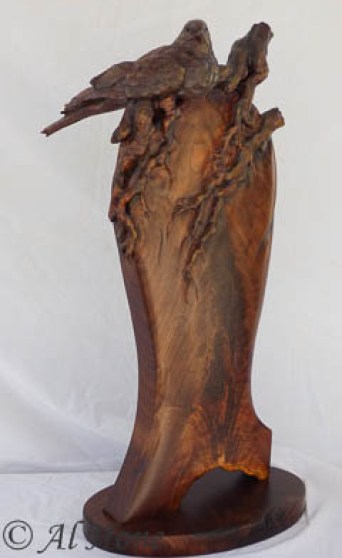 Morning dove wood sculpture