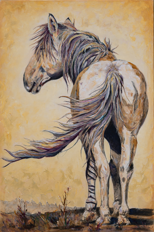 wild horse painting