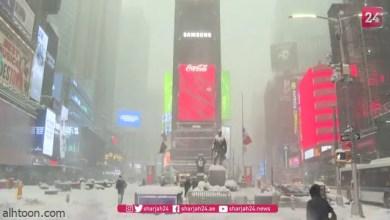 شاهد: عاصفة ثلجية في أمريكا - صحيفة هتون الدولية