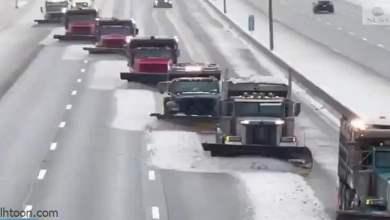 شاهد: كيف يتم إزالة الثلوج من الطرق - صحيفة هتون الدولية