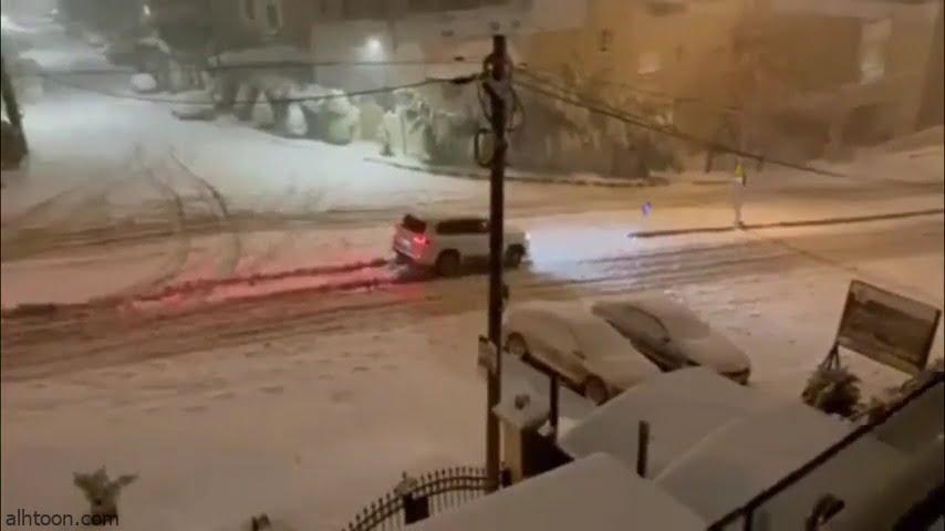 شاهد: الجليد يتسبب في انزلاق المركبات في الأردن - صحيفة هتون الدولية