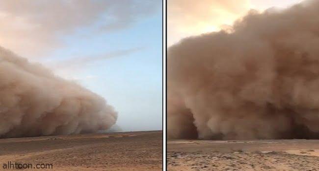 حقيقة فيديو العاصفة الغبارية في عرعر .. أمانة الشمالية تكشف -صحيفة هتون الدولية