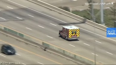 شاهد: لحظة مطاردة سيارة إسعاف مسروقة - صحيفة هتون الدولية