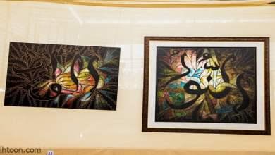 معرضاً فنياً للوحات إسلامية بريشة فنان إثيوبي