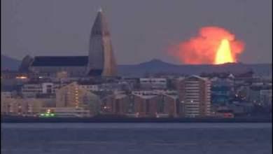 شاهد: لحظة انفجار بركان شاهق - صحيفة هتون الدولية