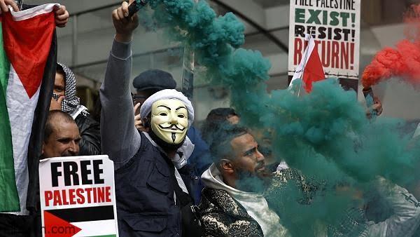 شاهد .. مظاهرات في لندن تضامنا مع فلسطين - صحيفة هتون الدولية