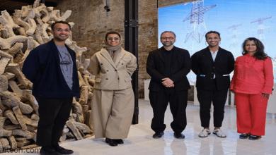 """افتتاح معرض الجناح الإماراتي """"أرضٌ لَدِنة"""""""
