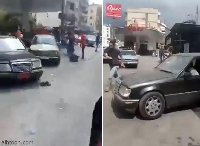 """شاهد: مشاجرة نارية بسبب البنزين بـ""""لبنان"""" - صحيفة هتون الدولية"""