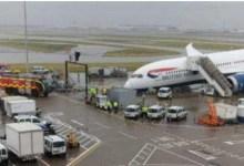 شاهد: سقوط مقدمة طائرة قبل إقلاعها - صحيفة هتون الدولية