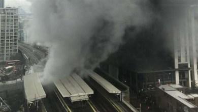 دخان حريق يغطي سماء لندن - صحيفة هتون الدولية
