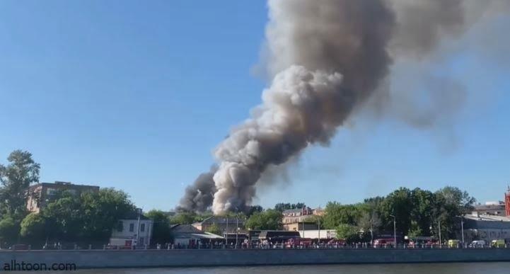 شاهد: حريق في مصنع مفرقعات - صحيفة هتون الدولية