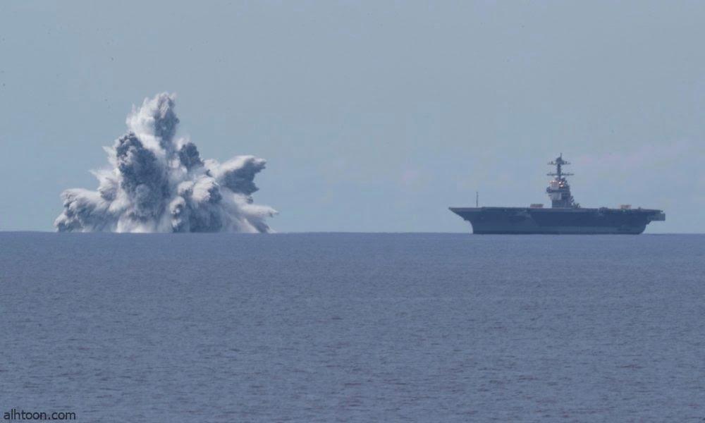 شاهد: تفجيرات في حاملة طائرات أمريكية - صحيفة هتون الدولية