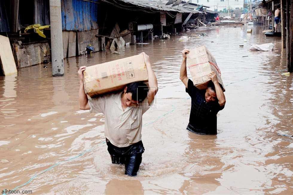 شاهد: فيضان يغرق الصين - صحيفة هتون الدولية