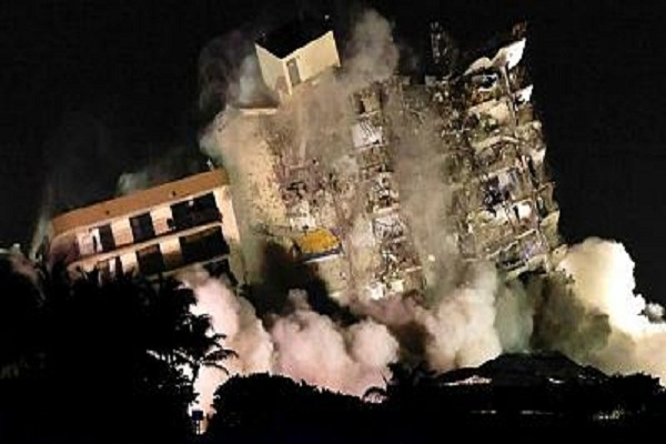 شاهد: لحظة تفجير المبنى المنهار بميامي - صحيفة هتون الدولية