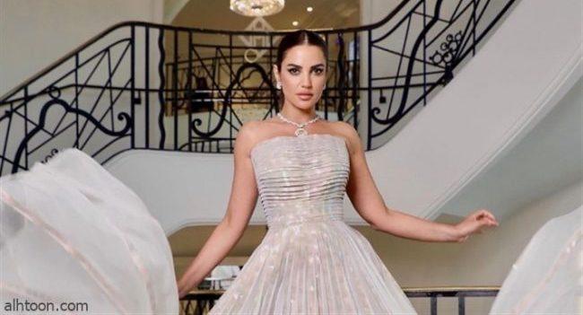 بفستان أبيض.. درة في مهرجان كان - صحيفة هتون الدولية