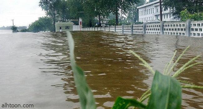 شاهد: الفيضانات تغرق المنازل في كوريا الشمالية - صحيفة هتون الدولية