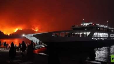 شاهد: أجلاء اليونانيين من الحرائق في سفينة - صحيفة هتون الدولية