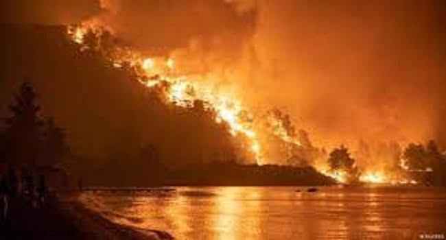 شاهد: اليونانيين يهربون من الحرائق - صحيفة هتون الدولية