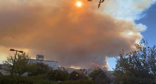 شاهد: دخان كثيف يغطي سماء القدس - صحيفة هتون الدولية