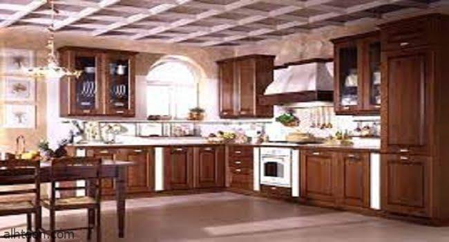 تصاميم المطابخ الخشبية الرائعة -صحيفة هتون الدولية