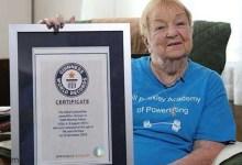 """عمرها 100 عام ..جدة تدخل سجل """"غينيس"""" في رفع الأثقال -صحيفة هتون الدولية"""