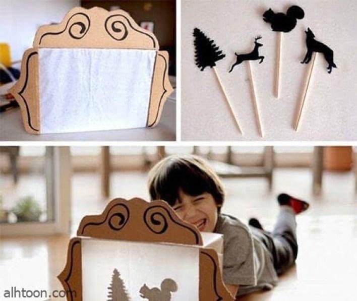 صنع لعب اطفال مسلية من علب الكرتون الفارغة -صحيفة هتون الدولية
