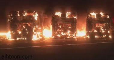 شاهد: النيران تلتهم 30 حافلة في روما - صحيفة هتون الدولية