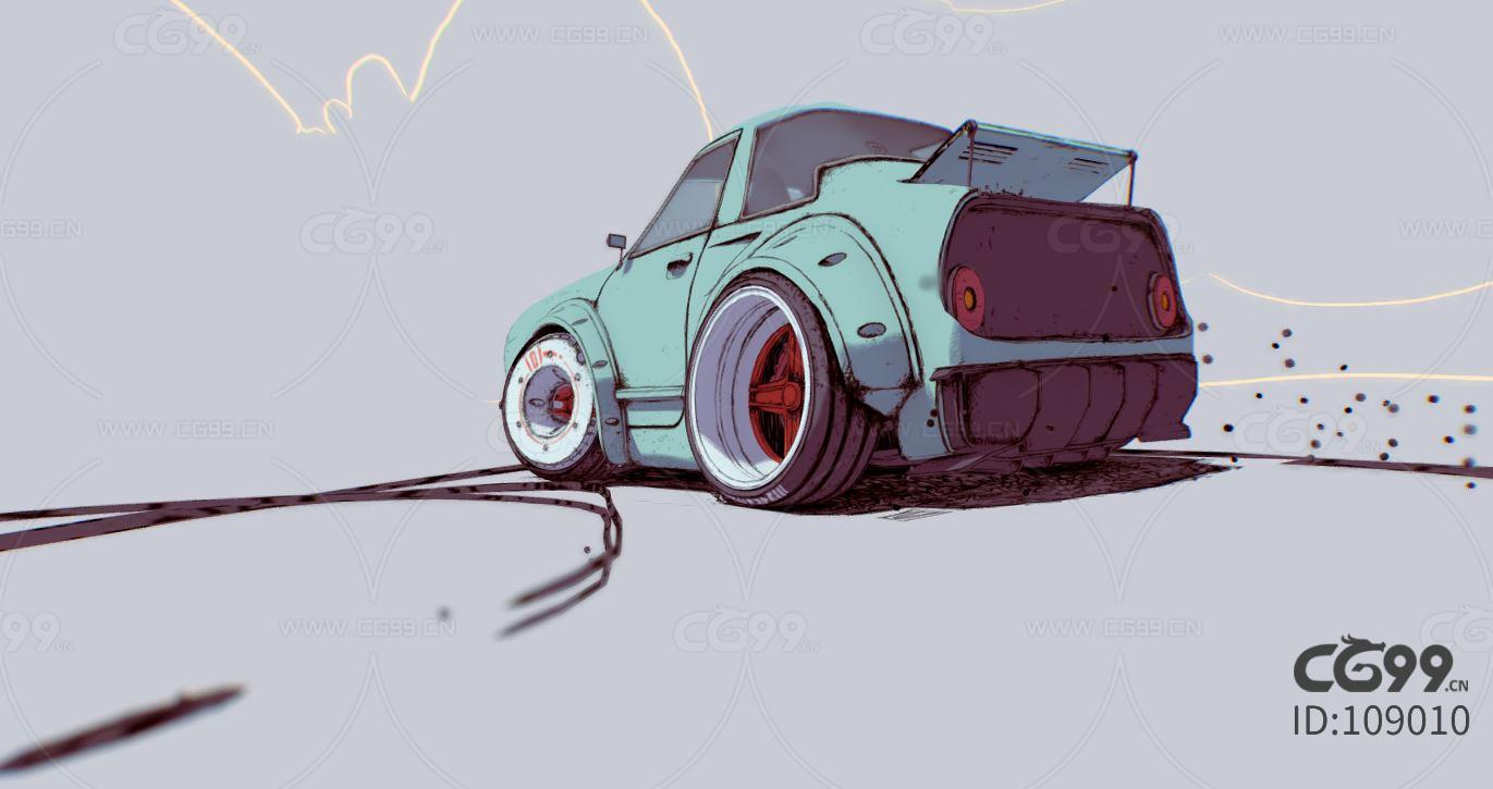 cHe 汽車 漂移-cg模型免費下載-CG99