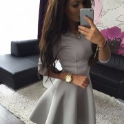 Fashion-Women-s-3-4-Sleeve-Sexy-Winter-Evening-Party-Bodycon-Mini-Skater-Dress2