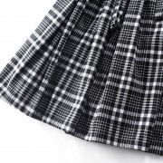 Fasicat-New-Brand-Retro-Women-Plaid-Dress-Lantern-Sleeve-Sashes-Front-A-Line-Pleated-Dresses-Ladies6