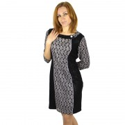 New-2015-Fashion-3-4-Sleeve-Dresses-Women-Work-Wear-Sexy-Formal-Slim-Dress-Plus-Size5