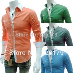 2014-Mens-Slim-Fit-Casual-Shirts-Personality-Candy-Color-Long-Sleeve-Shirt-Turn-down-Collar-Men-1