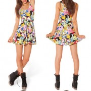 2014-New-Sexy-Women-dress-Cartoon-Adventure-Time-Dress-BRO-BALL-REVERSIBLE-SKATER-DRESS-Pleated-Sun-2