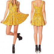 2014-New-Sexy-Women-dress-Cartoon-Adventure-Time-Dress-BRO-BALL-REVERSIBLE-SKATER-DRESS-Pleated-Sun-5