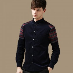 2015-New-Arrival-Mens-Spring-Casual-Long-sleeved-Shirt-Men-Corduroy-Stand-Collar-Shirts-Male-Slim-1