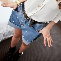 2015-New-Fashion-Studs-Rivet-Denim-Shorts-Women-s-Jeans-Short-Pants-High-waist-Blue-Shorts-1