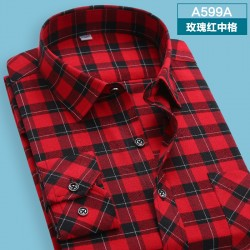 2015-autumn-winter-Men-s-shirts-tops-fashion-loose-Leisure-long-sleeved-plaid-shirt-with-flannel-1