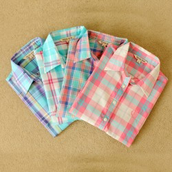 2015-fashion-tops-blouse-plaid-shirt-women-Colorful-Long-Sleeve-100-Cotton-shirt-ladies-plus-size-1